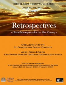 "CONCERT - ""Retrospectives:  Choral Masterpieces from the 21st Century"" @ First Parish Unitarian Universalist Church in Duxbury 